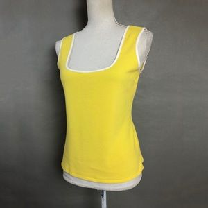 Vintage 90s top bright Sun Yellow tank